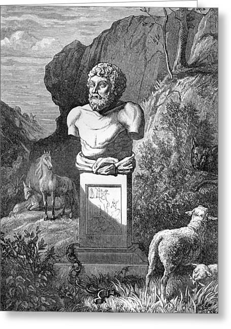Aesop, Ancient Greek Fabulist Greeting Card by