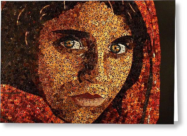 Afghan Girl II Greeting Card by Doug Powell
