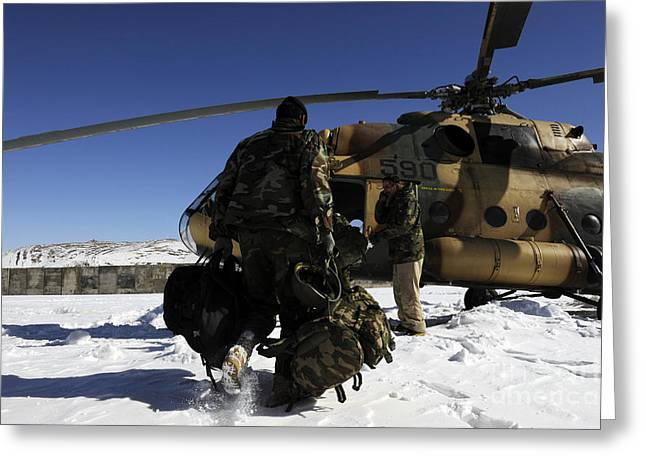 Afghan National Army Air Corps Members Greeting Card by Stocktrek Images