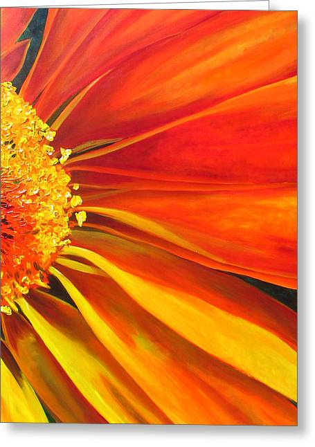 African Daisy Greeting Card by Raette Meredith