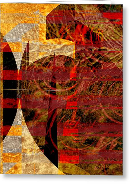 African Influence Greeting Card by Ann Powell