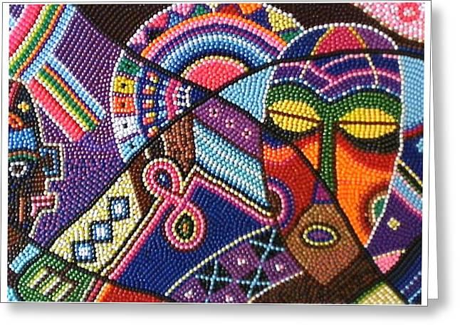 African Motifs Greeting Card
