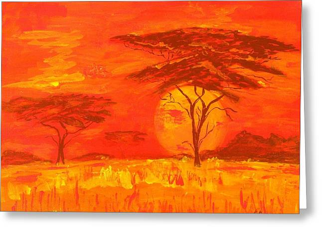 African Summer Greeting Card