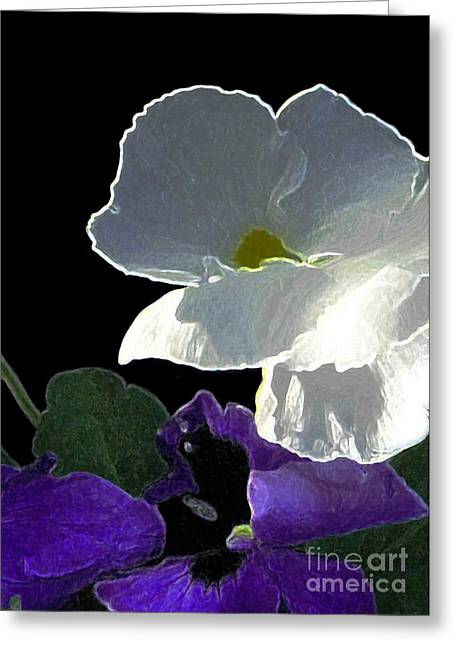 African Violet Greeting Card by Dale   Ford