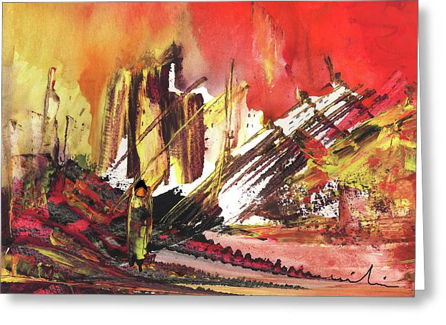 After The Earthquake Greeting Card by Miki De Goodaboom