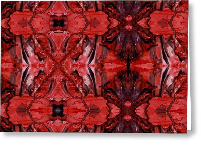 Afterglow Pattern Greeting Card by Dan Cope