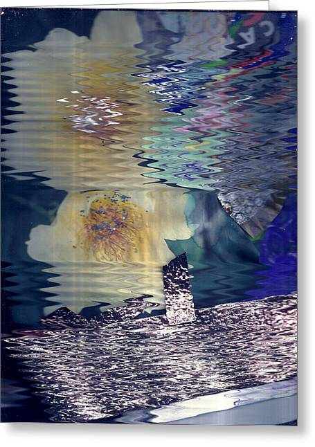 Afternoon Day Dream Collage Greeting Card by Anne-Elizabeth Whiteway