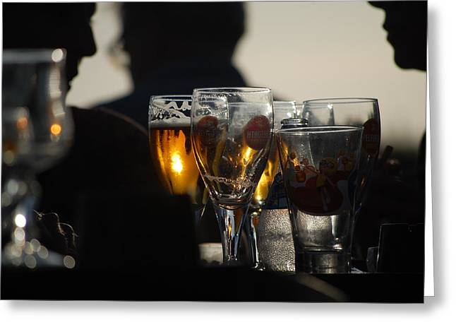 Afternoon Drinks Greeting Card by Dickon Thompson
