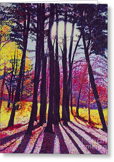 Afternoon Forest Greeting Card