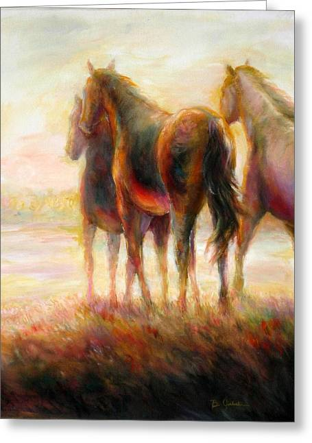 Greeting Card featuring the painting Afternoon Glow by Bonnie Goedecke