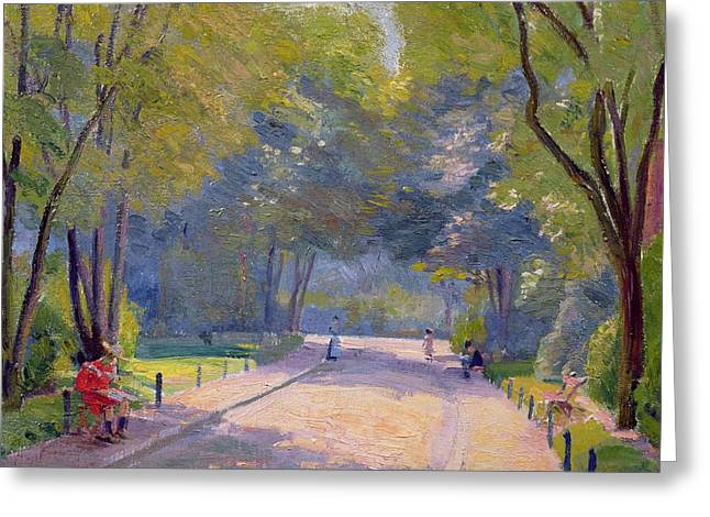 Afternoon In The Park Greeting Card by Hippolyte Petitjean