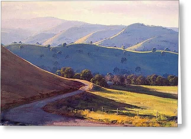 Afternoon Light Kanimbla Valley Greeting Card by Graham Gercken