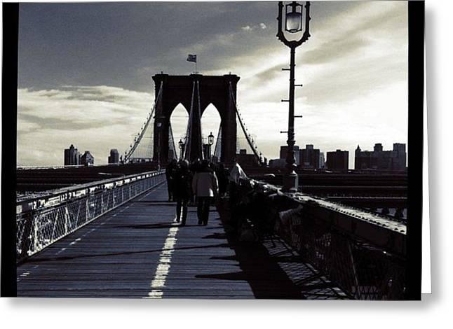 Afternoon On The Brooklyn Bridge Greeting Card