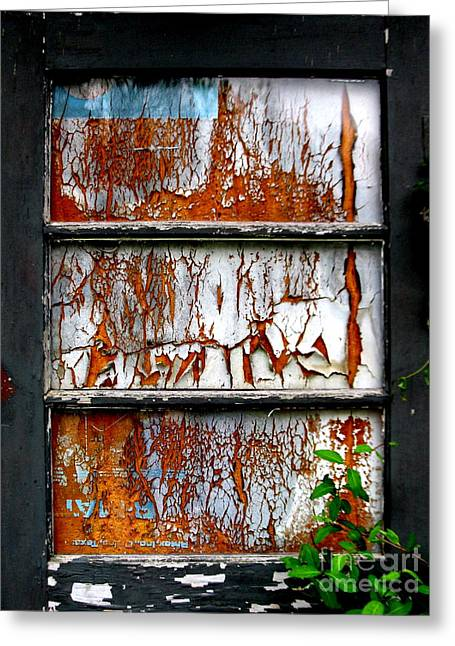 Aged Door Greeting Card