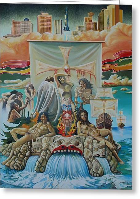Agony Of A Nation Greeting Card by Santo De Vita