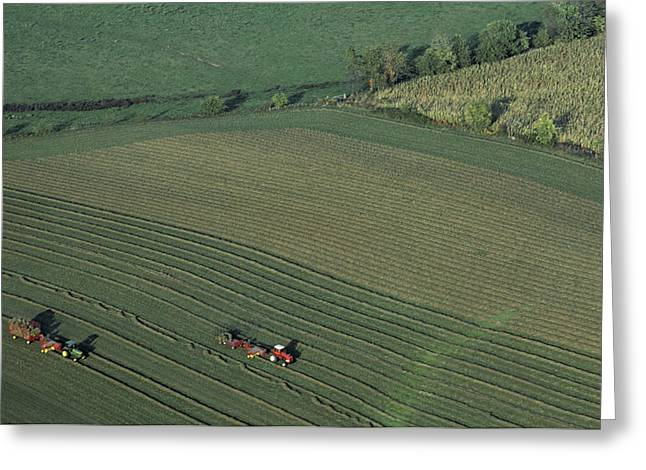Agricultural Aerial View Greeting Card by Kenneth Garrett