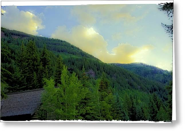 Ah To Live On Vail Mountain Greeting Card by Madeline Ellis