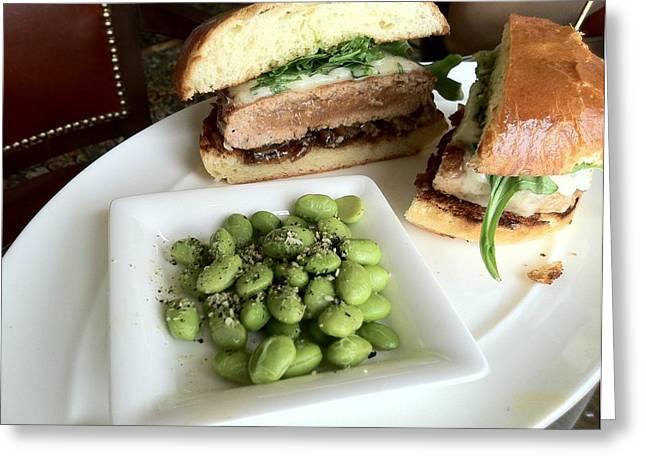Ahi Tuna Sandwich At Pebble Beach Greeting Card by GuitarGeeks Photography