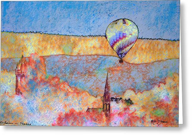 Air Balloon Over Peeebles Greeting Card