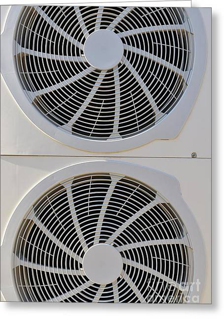 Air-conditioner Rear Fans Greeting Card by Sami Sarkis