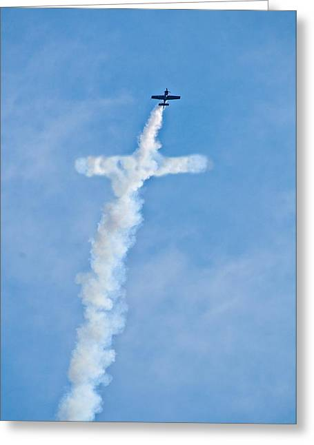 Air Cross Greeting Card