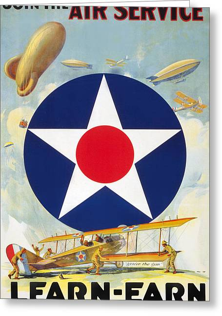 Air Service Greeting Card by Charles Shoup