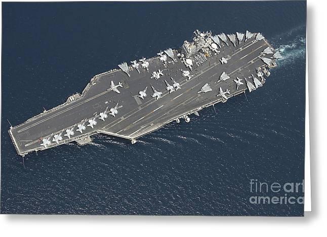 Aircraft Carrier Uss George Washington Greeting Card