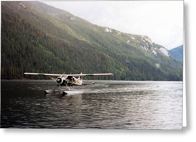 Airplane On Lake Greeting Card