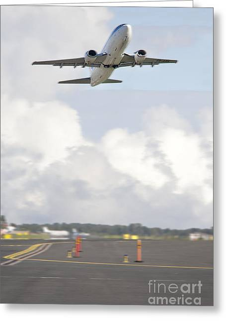 Airplane Taking Off Greeting Card by Jaak Nilson