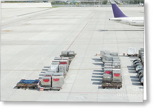 Airport Tarmac Greeting Card