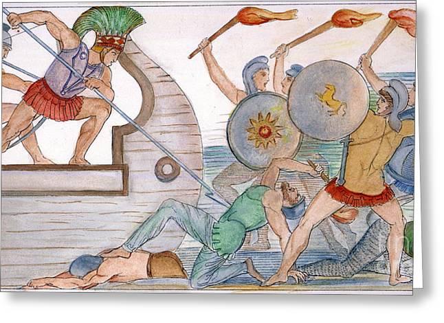 Ajax: Trojan War Greeting Card by Granger