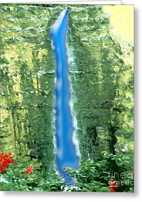Akaka Falls Greeting Card by Karen Nicholson