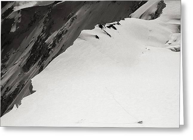 Akkem Wall. Western Plateau Greeting Card by Konstantin Dikovsky