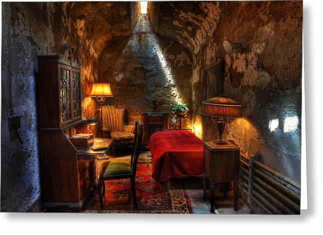 Al Capone's Cell II - Easton State - Scarface - The Syndicate - The Chicago Outfit - Capones  Greeting Card