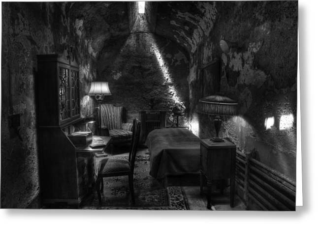 Al Capone's Cell IIi - Easton State - Scarface - The Syndicate - The Chicago Outfit   Greeting Card by Lee Dos Santos