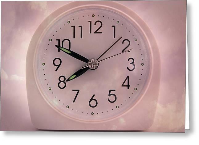 Alarrm Clock Greeting Card by Bernard Jaubert