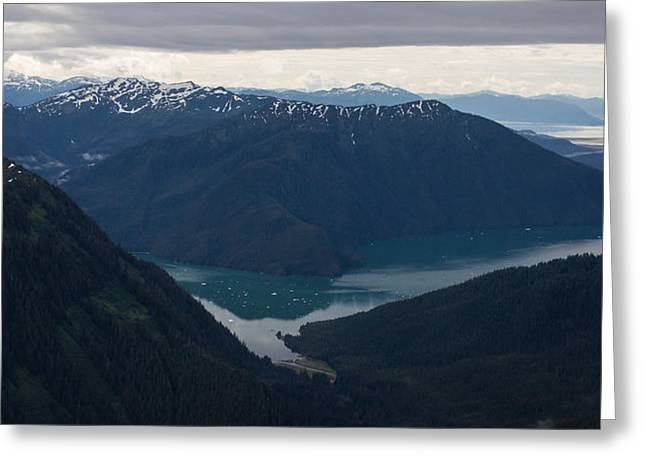 Alaska Coastal Serenity Greeting Card by Mike Reid