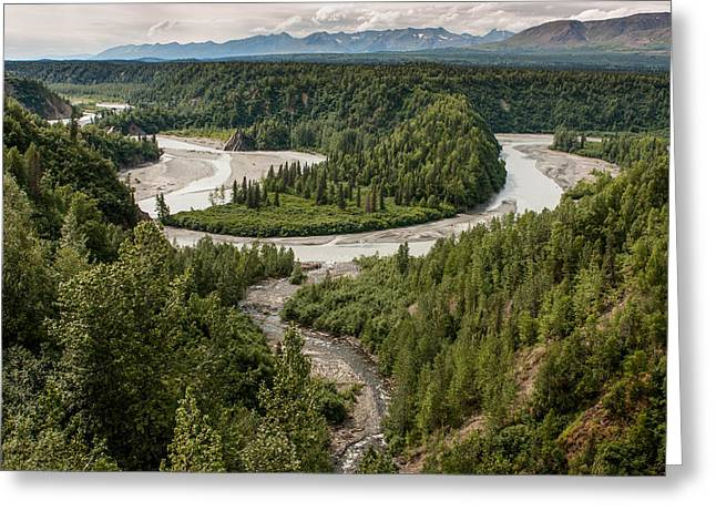 Alaska Railroad Two Greeting Card by Josh Whalen