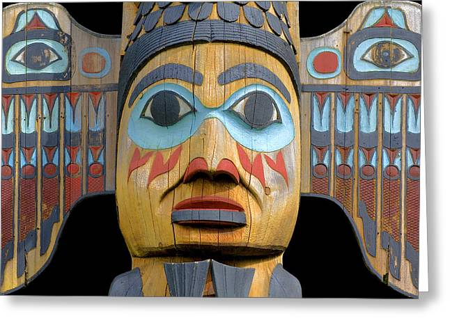 Alaska Totem Greeting Card by Mark Greenberg
