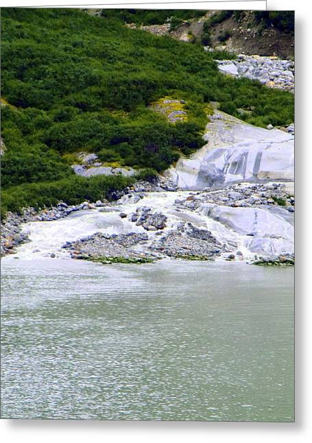 Alaskan Ice Melt Greeting Card by Mindy Newman