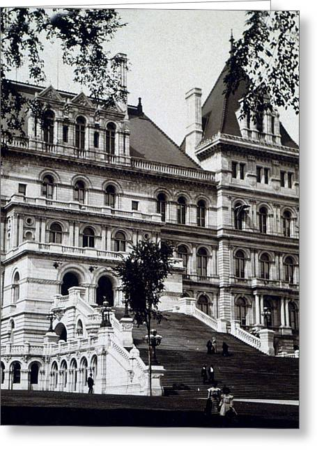 Albany New York - State Capitol Building - C 1903 Greeting Card by International  Images