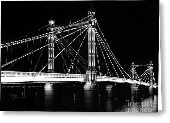 Albert Bridge At Night Greeting Card