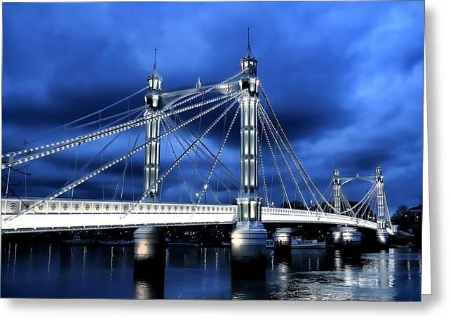 Albert Bridge London Greeting Card