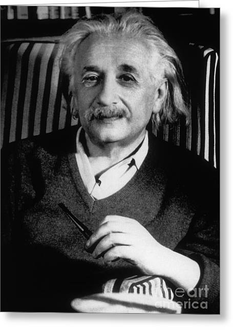 Albert Einstein, German-american Greeting Card by Science Source