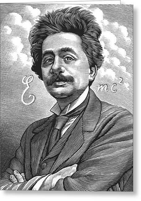Albert Einstein, Physicist Greeting Card by Bill Sanderson