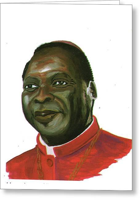 Albert Ndongmo Greeting Card by Emmanuel Baliyanga