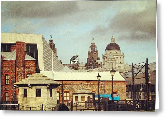 #albertdock #liverpool #city #uk Greeting Card