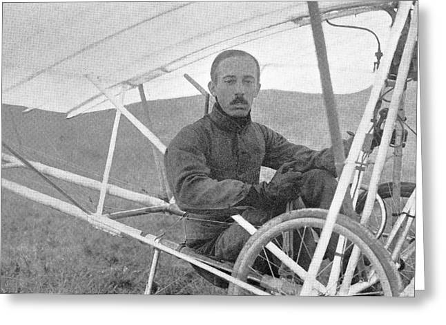 Alberto Santos-dumont, Brazilian Pilot Greeting Card by Science, Industry & Business Librarynew York Public Library