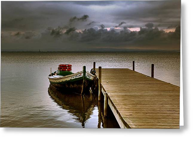 Albufera Before The Rain. Valencia. Spain Greeting Card
