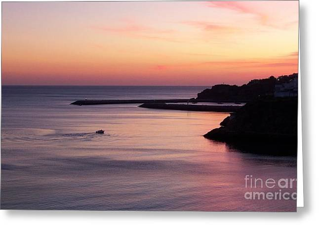 Greeting Card featuring the photograph Albuferian Sunset by Lynn Bolt